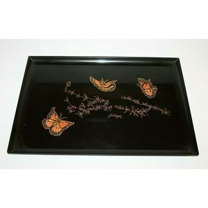 Vintage Couroc of Monterey Tray Butterfly